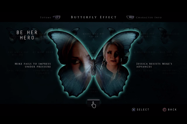 Until Dawn Butterfly Effect example